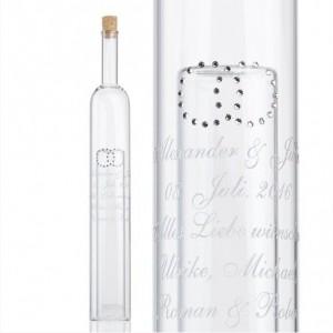 Geldgeschenke-Flasche mit Gravur mit 2. Hohlraum