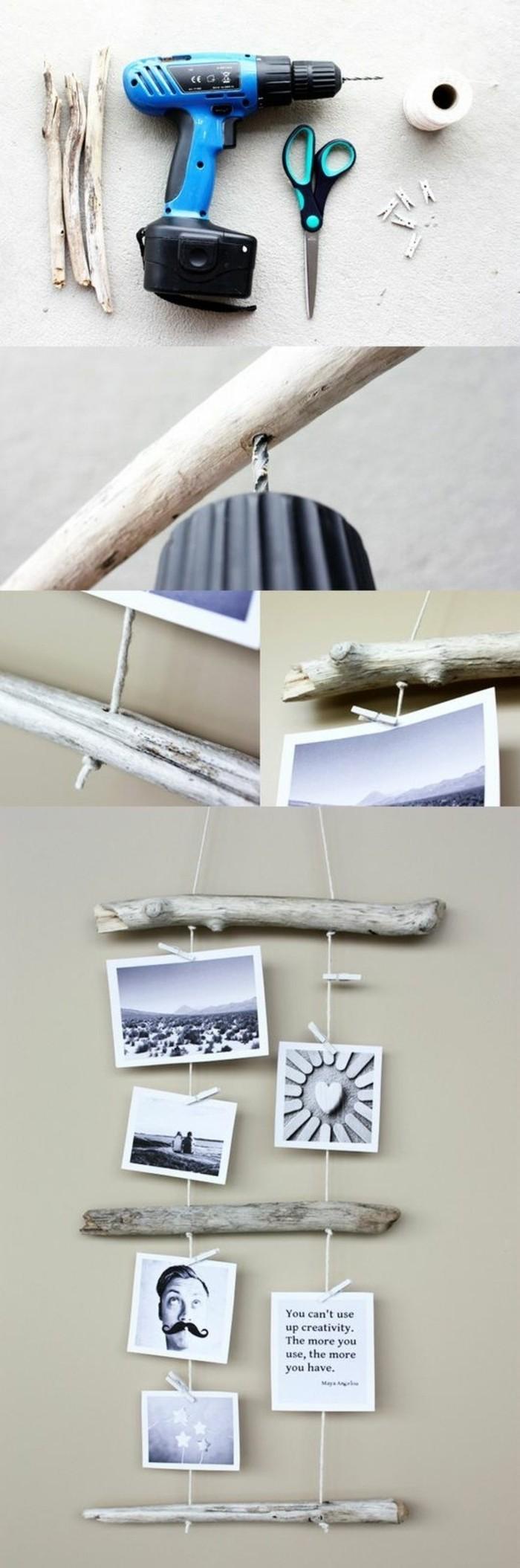 5-basteln-mit-treibholz-fotowand-selber-machen-aeste-bilder-bohre-schere