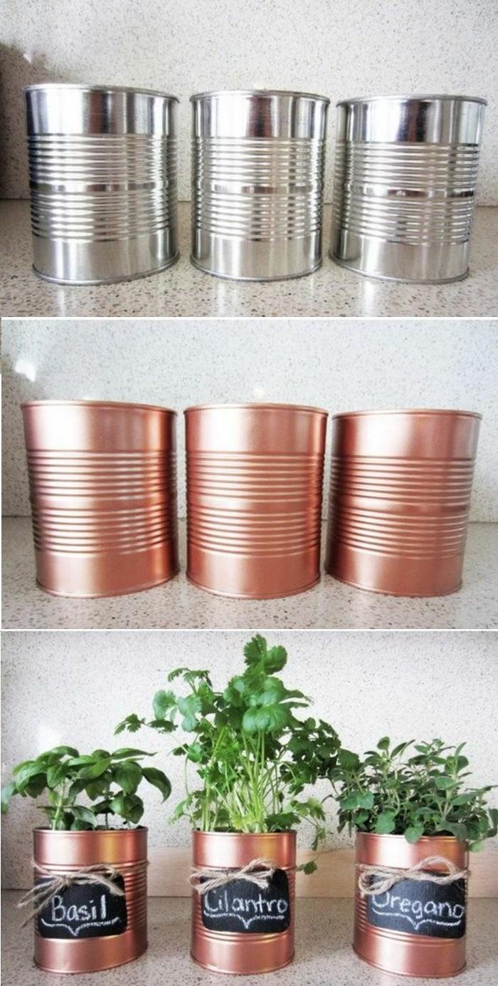 6-basteln-mit-dosen-blumentoepfe-gruene-pflanzen-diy-goldener-spray