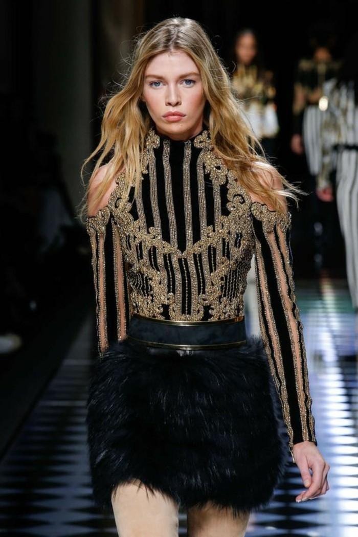 6-schicke-kleider-schwarzer-rock-bluse-mit-goldenen-elemnten-guertel-mode