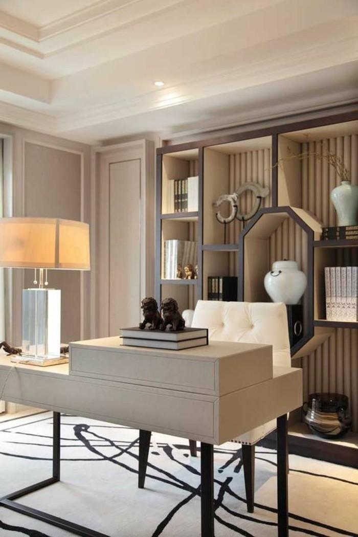 7-arbeitszimmer-einrichten-modern-weisser-stugl-schrank-regalsystem-teppich-schreibtisch-buecher