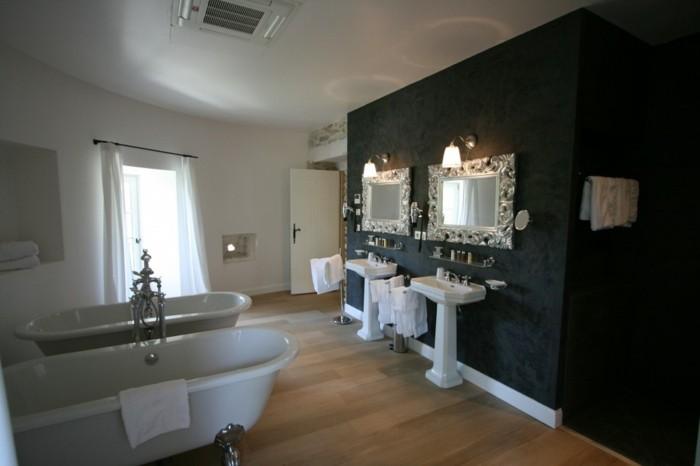 Bad-ohne-fliesen-luxus-badezimmer-für-zwei-in-schwarzer-farbe