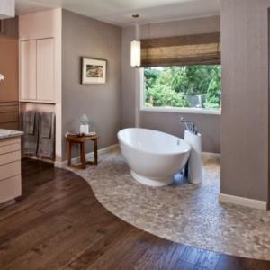 Badezimmer ohne Fliesen - 50 alternative Ideen für Gestaltung
