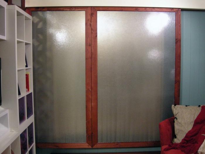 1001 ideen f r schiebet ren selber bauen ganz handlich. Black Bedroom Furniture Sets. Home Design Ideas