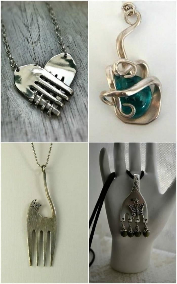 ▷ 1001+ Ideen für Schmuck aus Silberbesteck selber machen