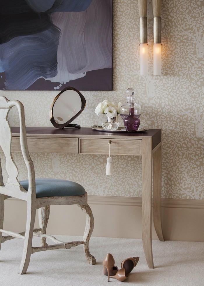 Ankleidezimmer Planen Schminktisch Mit Stuhl Absaetze Lampe Bild