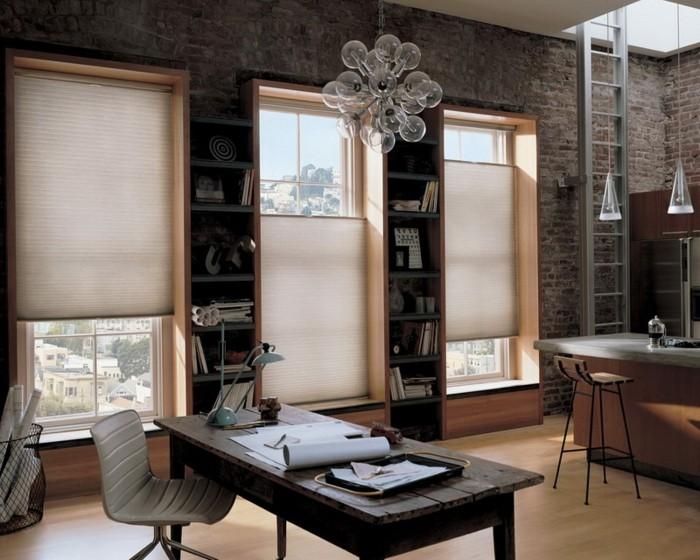 Arbeitszimmer gestaltungsideen  Moderne Fensterdeko für eine vornehme Atmosphäre im Raum - Archzine.net