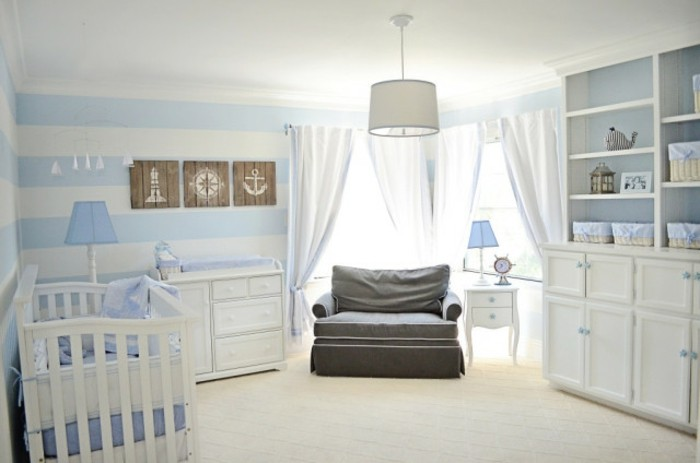 babyzimmer junge blau grau. Black Bedroom Furniture Sets. Home Design Ideas