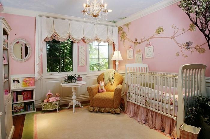 Babyzimmer gestalten wände rosa  Frische Babyzimmer Ideen für gesunde und glückliche Babys - Archzine.net