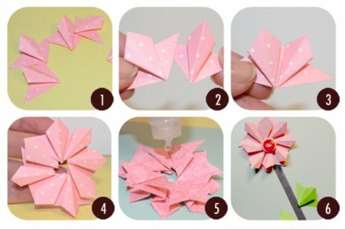 bastelideen-für-kinder-blume-aus-origamipapier