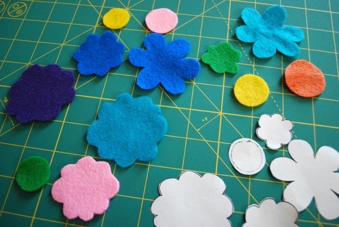 bastelideen-für-kinder-blumen-aus-papier-und-watte-basteln
