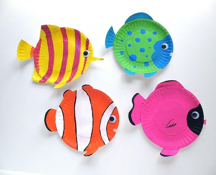 Bastelideen Für Kinder Fische Aus Kartontellern Basteln
