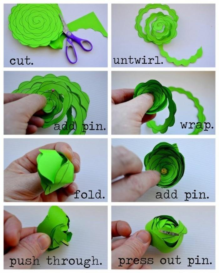bastelideen-für-kinder-rosen-aus-papier-machen