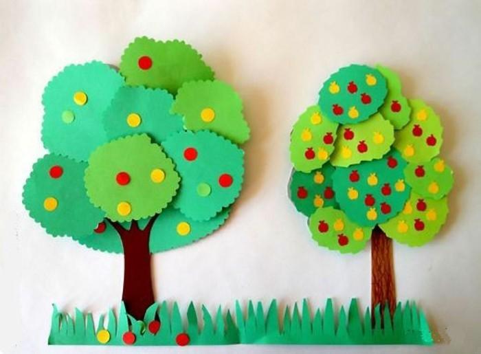 basteln-mit-kleinkindern-applizieren-mit-papier