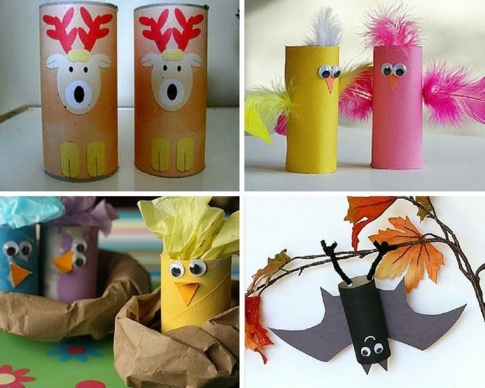 basteln-mit-klopapierrollen-geschenk-für-opa-basteln-tiere-aus-klopapierrollen
