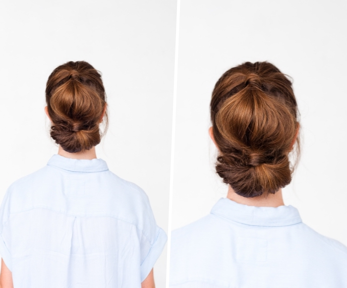 frisuren hochzeitsganst, einfache hochsteckfrisuren haare hochstecken, frsiurenideen