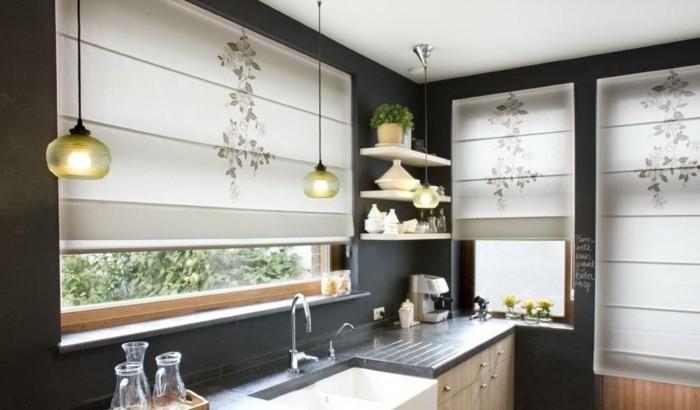 fensterdeko-küche-modern-gestalten