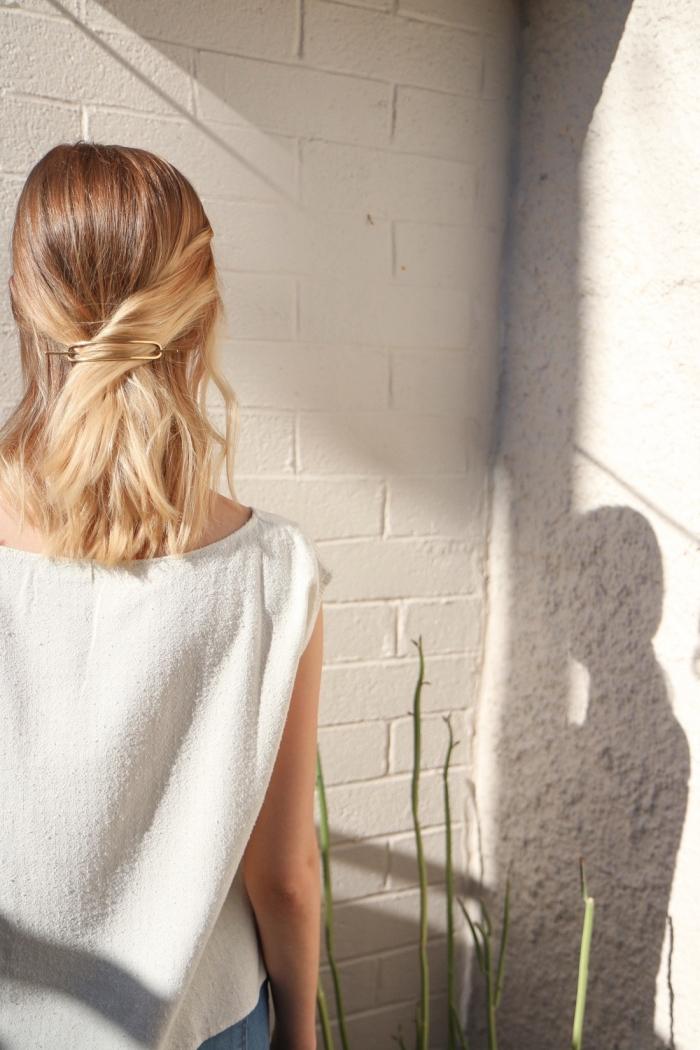 frisuren halblang, schulterllange haare, halboffene frsfrisurur, sommerfrsiuren ideen
