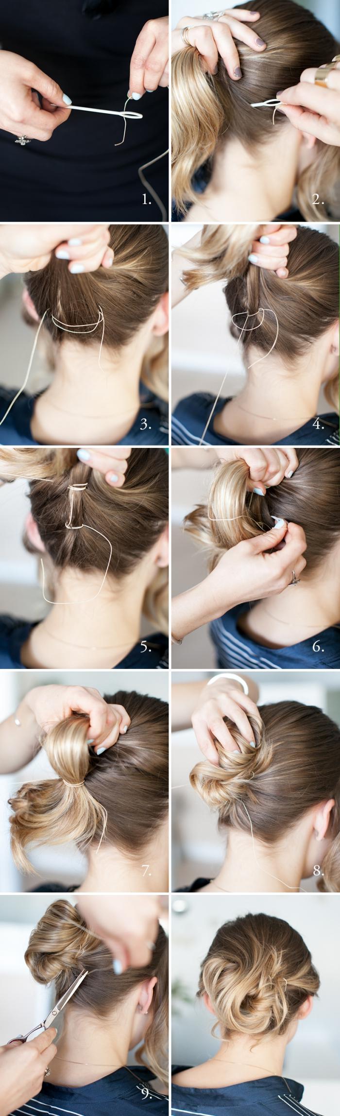 frisuren halblang, festliches haarstyling zum selbermachen, kurze haare hochstecken, haarfrisuren anleitung
