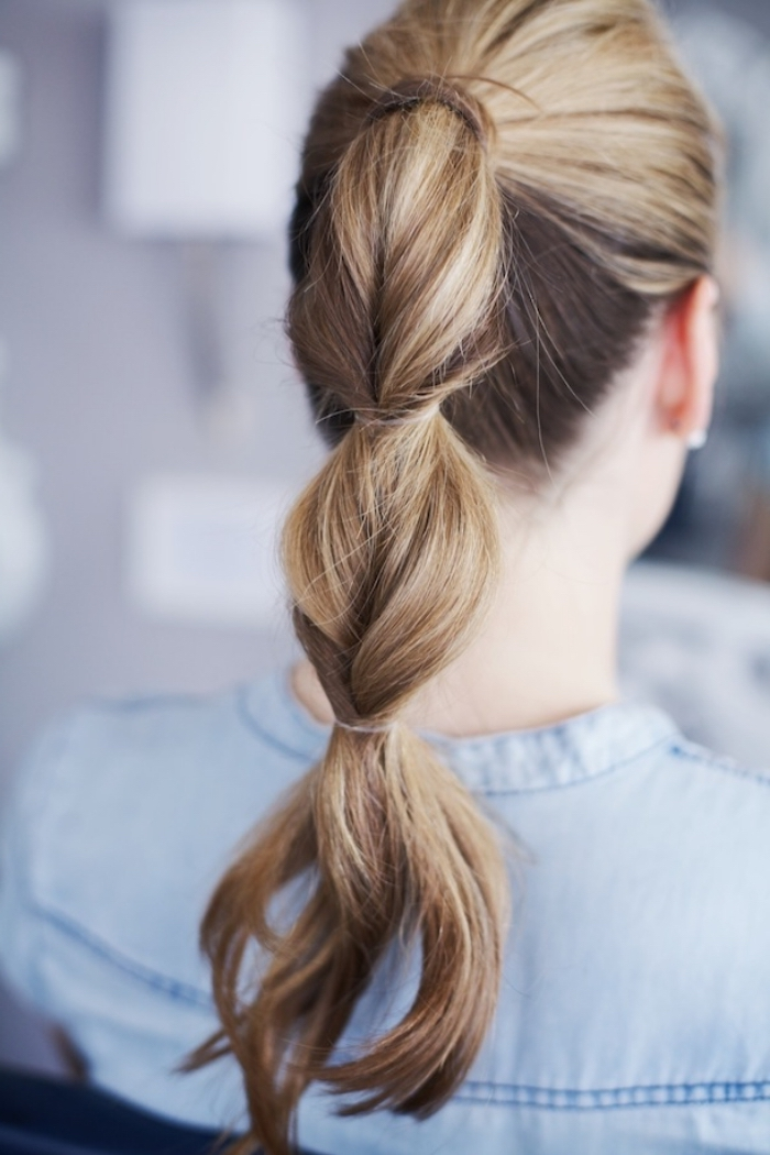 frisuren halblang, einfache frisuren für den alltag, haare flechten methode, sommerfrisuren
