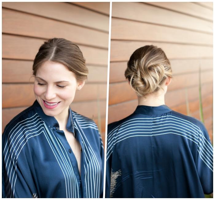 frisuren halblang zum selbermachen, haarstyling für kurze haare, abendfrisur ideen