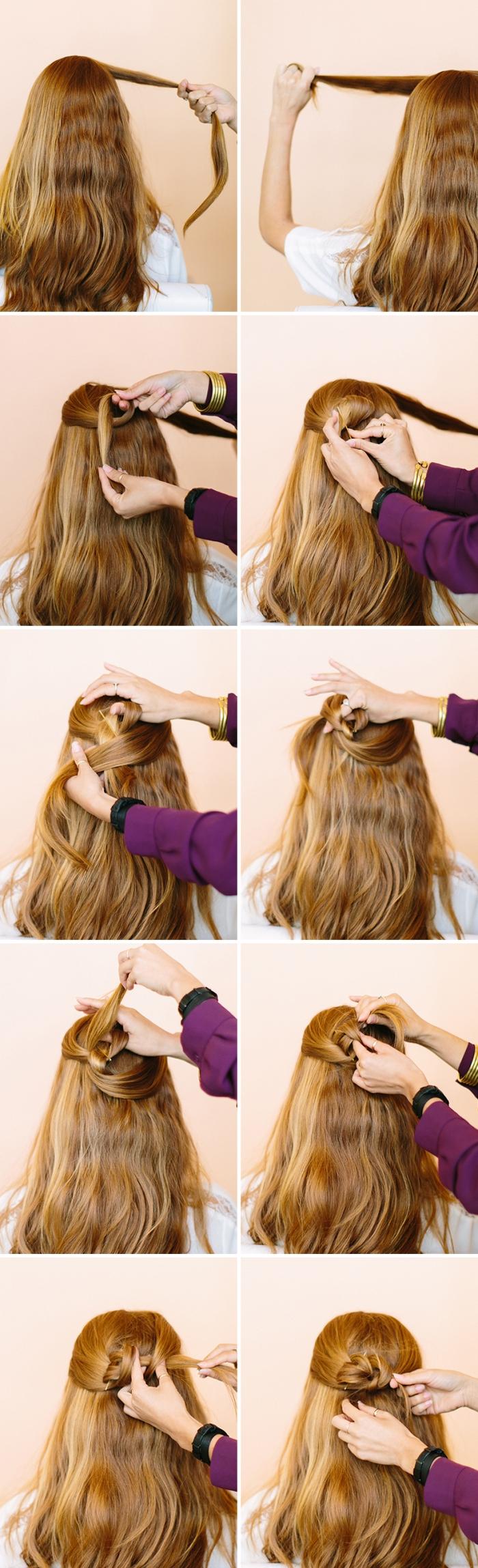 keltrischer knoten binden anleitung, halboffene frisuren lange haare, frisurenideen