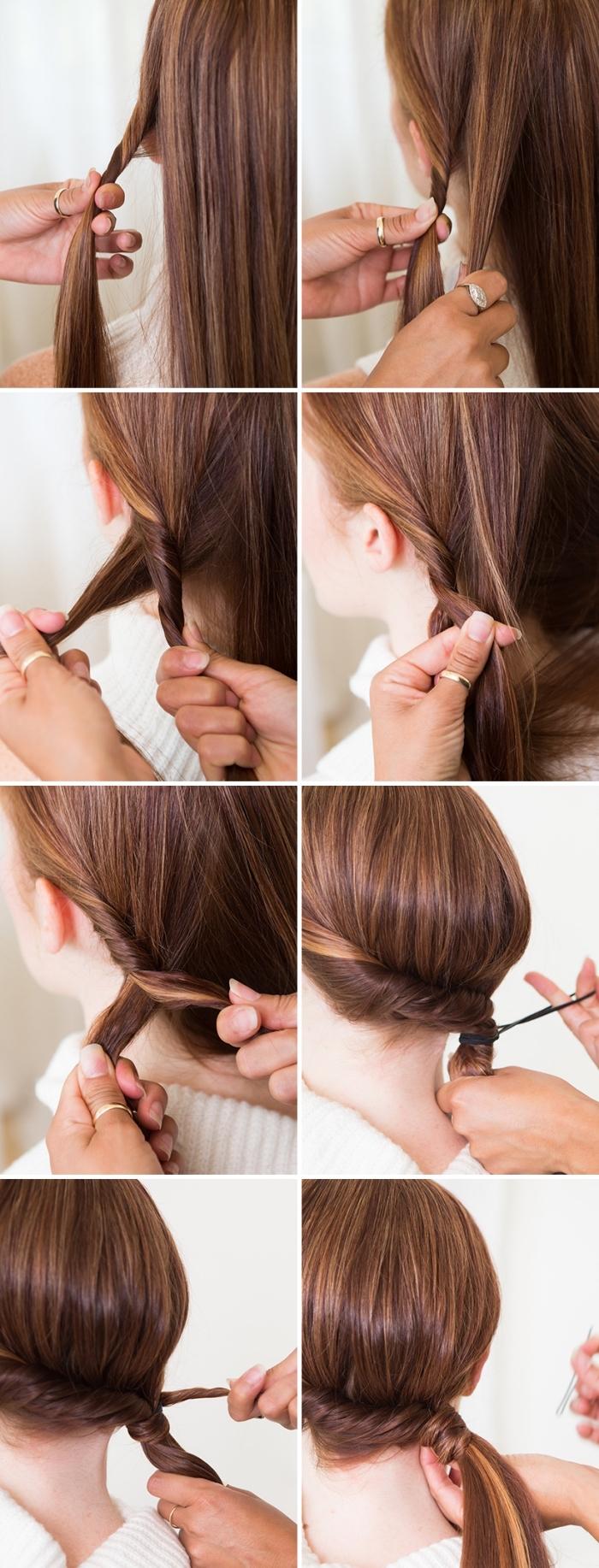 festliche frisuren lange haare, seitlicher pferdeschwanz binden, abendfrsiur selber machen