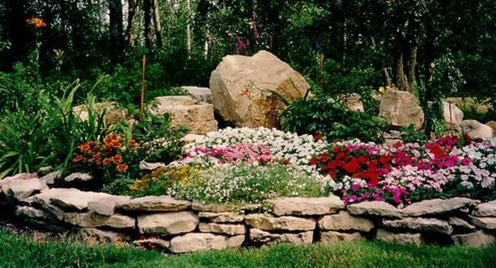 ▷ 1001+ Ideen zum Thema Blumenbeet mit Steinen dekorieren