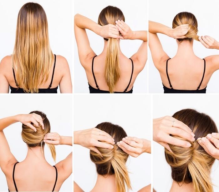 hochsteckfrisuren lange haare, anlektung zum selbermachen, einfache frisuren für den alltag