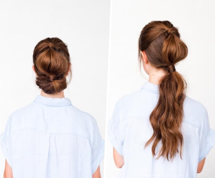 leichte hochsteckfrisuren lange haare, festliche frisuren zum selbermachen, abendfrsiur
