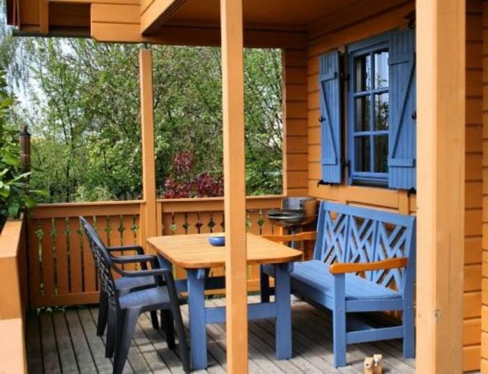 1001 tolle ideen f r amerikanisches holzhaus mit veranda for Schaukelstuhl rustikal