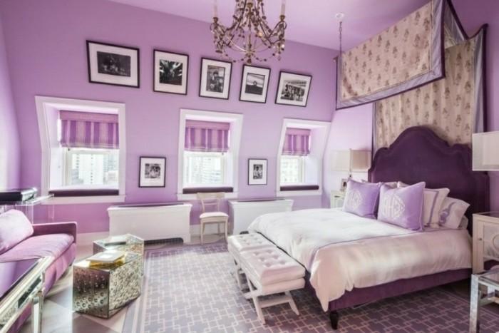 kinderzimmer-möbel-doppelbett-sitzbank-hocker-silber-couch-pink-schrägdach-kristallkronleuchter