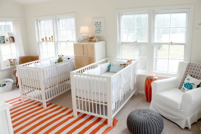 Mädchen Kinderzimmer Jungen Kinderzimmer Musterteppich Weißer Sessel Grauer   Frische Babyzimmer ...