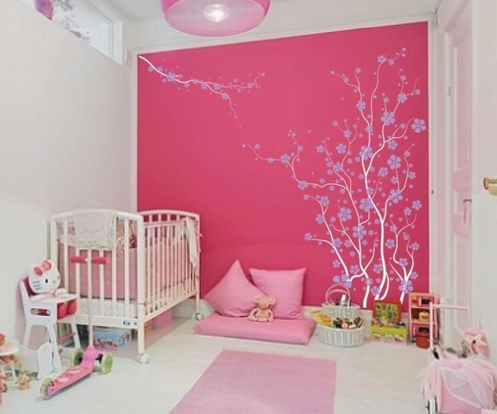 frische babyzimmer ideen für gesunde und glückliche babys ... - Kinderzimmer Rosa Wand