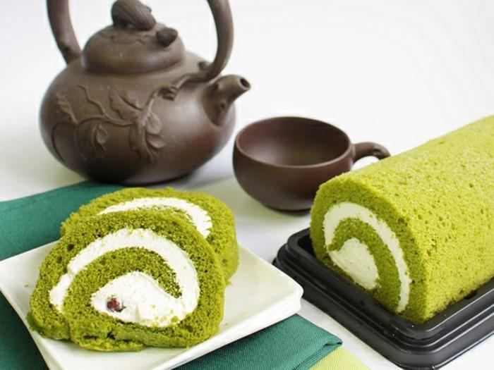 matcha-pulver-rezepte-rollkuchen-mit-matcha-und-viel-sahne-kalorienreich-aber-nicht-schlecht-kombination-mit-tee