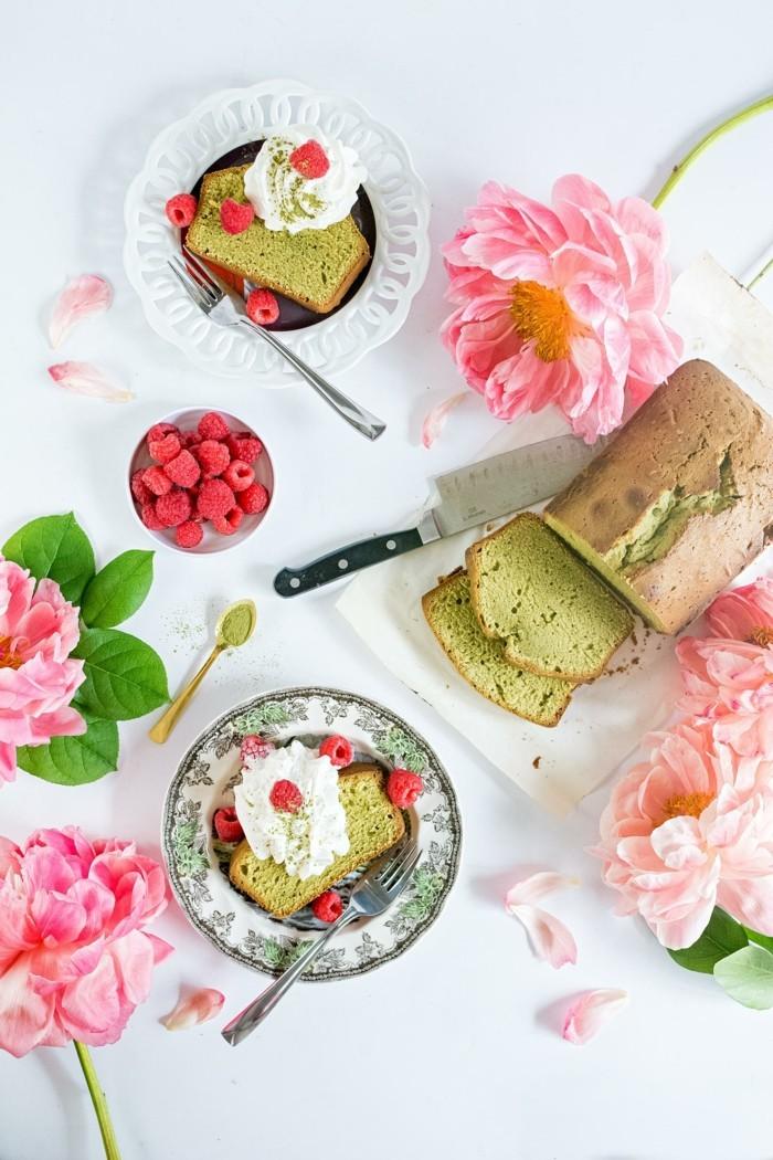 mit-macha-kochen-kuchen-glutenfrei-mit-matcha-tolle-tischdeko-rosa-weiss-dekoideen