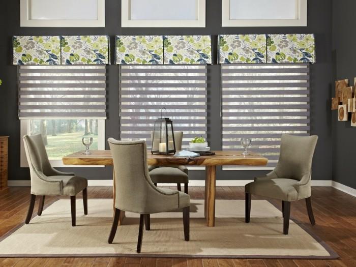 Moderne fensterfronten  Moderne Fensterdeko für eine vornehme Atmosphäre im Raum ...