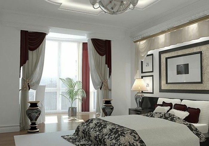 moderne fensterdeko f r eine vornehme atmosph re im raum. Black Bedroom Furniture Sets. Home Design Ideas