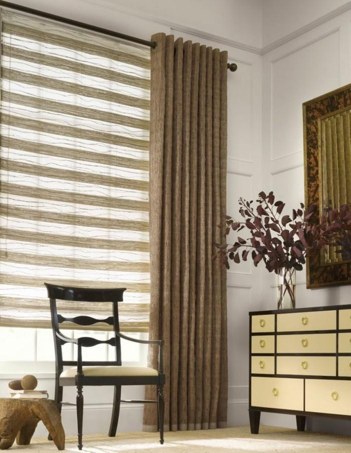 moderne-gardinen-für-wohnzimmwe-und-moderne-rollos