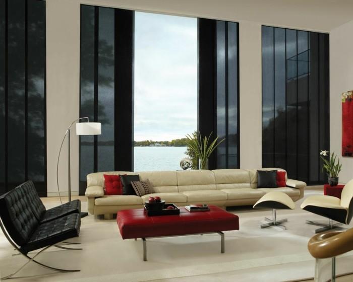 Moderne Fensterdeko für eine vornehme Atmosphäre im Raum - Archzine.net