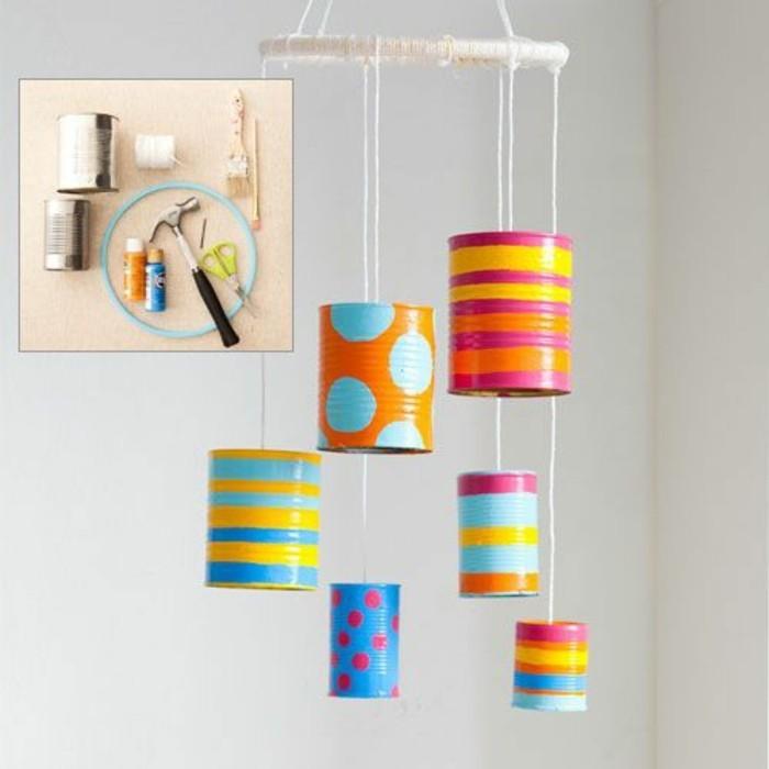 neue-bastelideen-konservendosen-dekorieren-hamer-farbe-schere-faden
