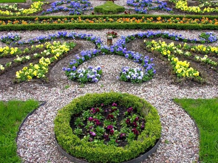 schöne-gärten-verschiedene-arten-von-pflanzen-deko-steine
