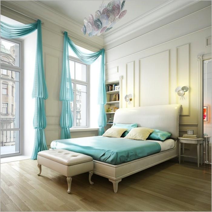 Moderne Fensterdeko Für Eine Vornehme Atmosphäre Im Raum ... Schlafzimmer Und Bro In Einem Raum