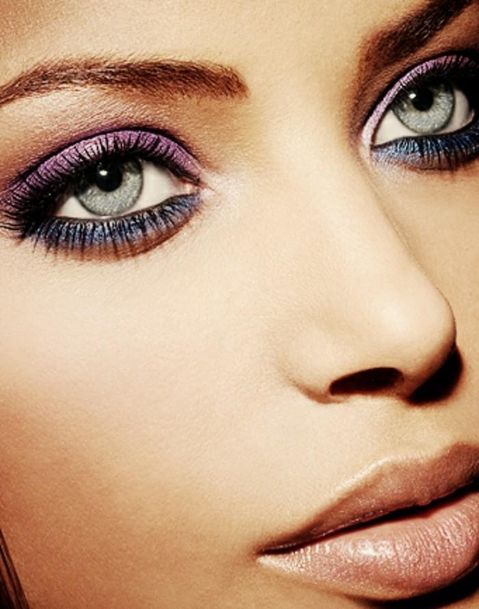 schminktipps-augen-exotisch-aussehen-dank-make-up-lila-rosa-und-blau-lidschatten-idee