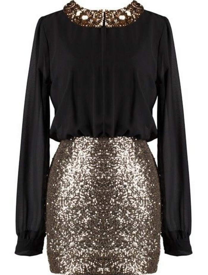 t-festliche-kleider-kurz-kleid-mit-aermen-in-schwarz-und-gold-party-outfit