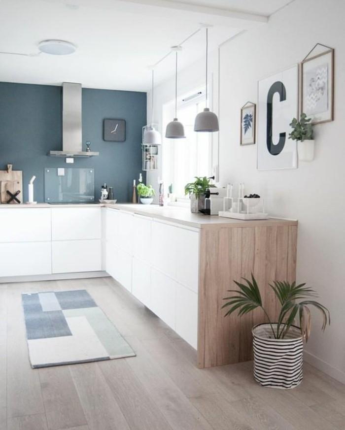 wohnideen-küche-aspirator-pflanzen-teppich-boden-aus-holz-lampen-bilder-wanddeko