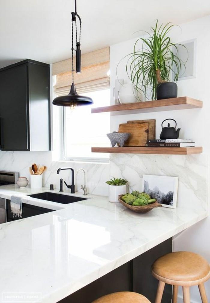 wohnideen-küche-regale-pflanzen-waschbeckenstühle-fenster-lampe-bilder-dekoartikel