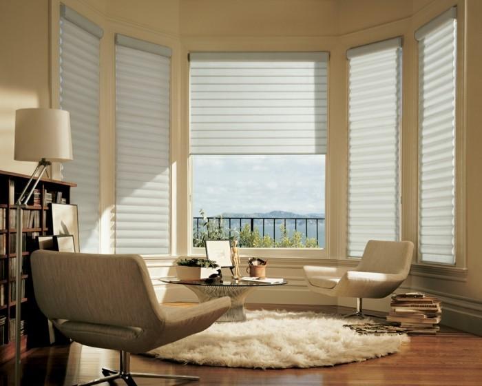 Wohnzimmer Fenster Gestalten Gemtlich Dekorieren