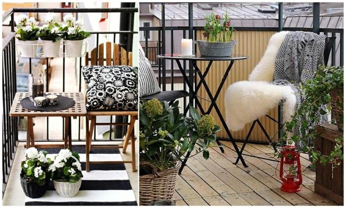 10schmalen-balkon-gestalten-holzboden-plüschteppich-musterteppich-metallstühle-metalltisch-rund-holzstuhl-holztisch-lampe