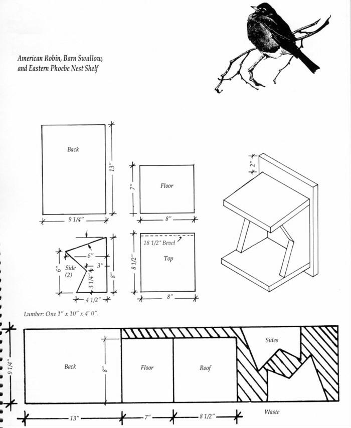 Nistkästen selber bauen: Anleitung mit Bildern